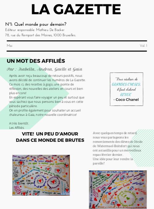 La Gazette n°1